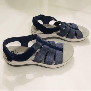 Clark's Cloud Steppers Blue Sandals